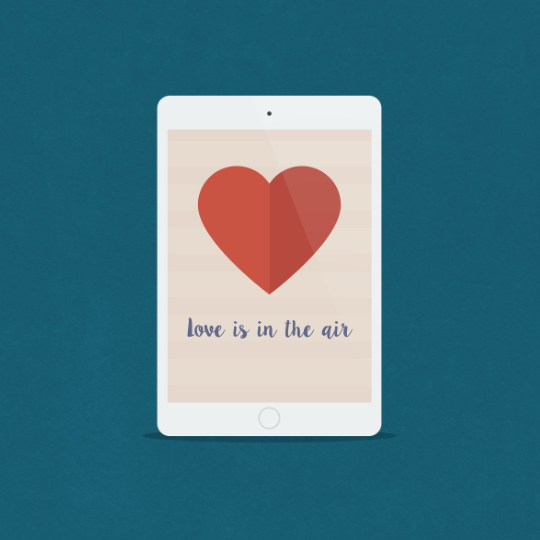 Love is in the air tapeta na tablet
