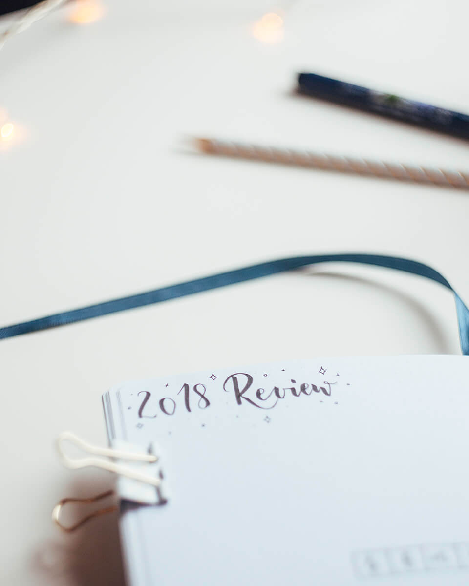 2018 Bullet journal review