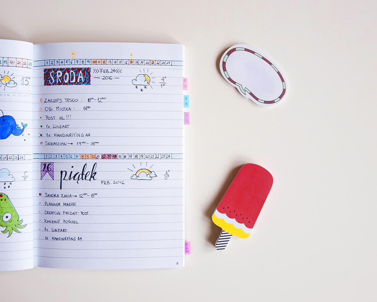 Bullet journal - daily log