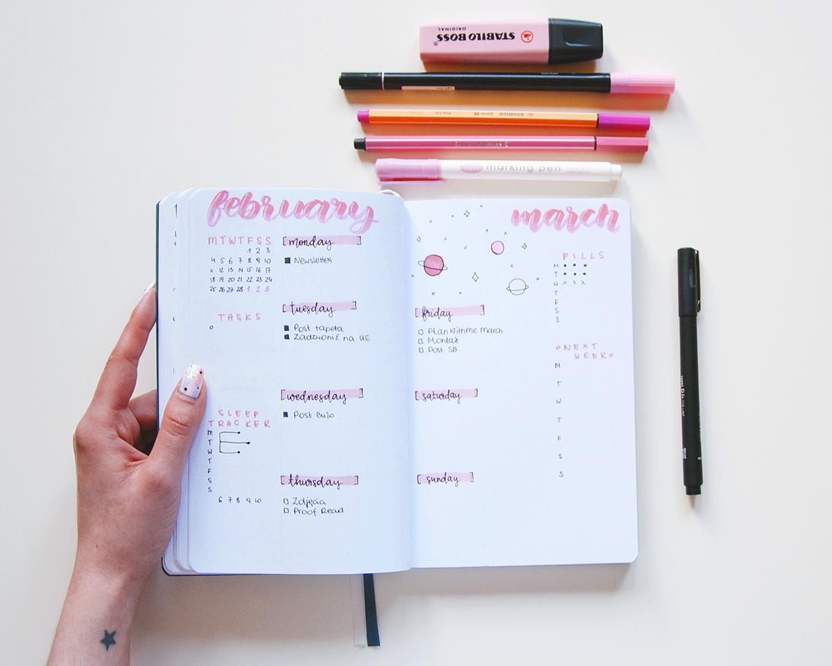 Bullet journal - weekly log